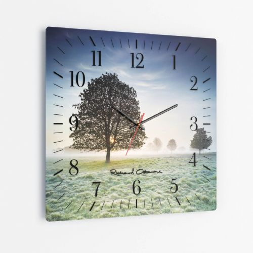 New Buckenham Common, Norfolk - Square Glass Clock
